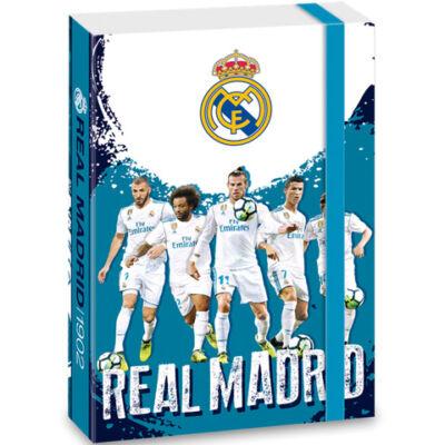 Real Madrid kék füzetbox jatékosokkal A/4