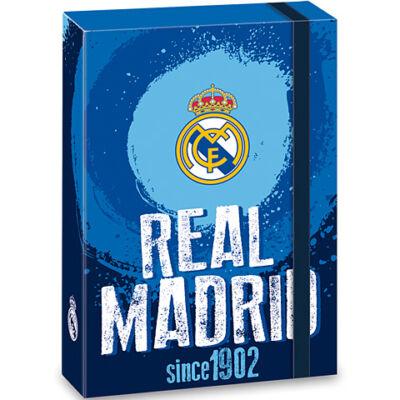 Real Madrid kék füzetbox A/5