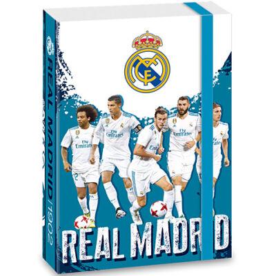 Real Madrid kék füzetbox jatékosokkal A/5