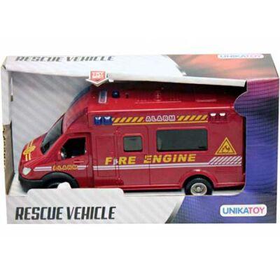 Rescue roham járművek fénnyel és hanggal többféle 18cm-Unikatoy