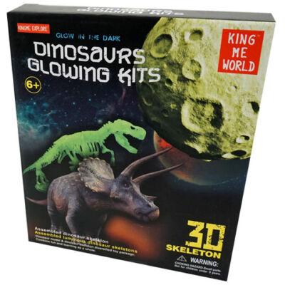 Sötétben világító dinoszaurusz csontváz