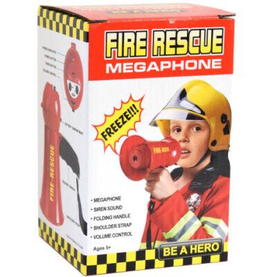 Tűzoltósági elektronikus megafon szirénával