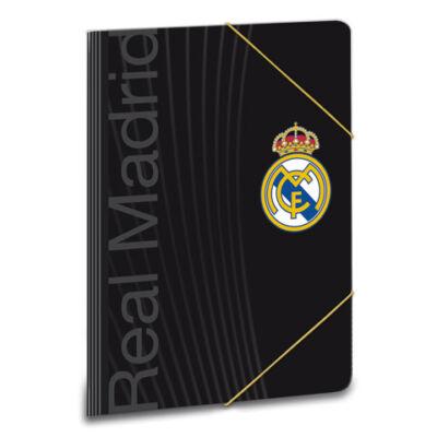 Real Madrid fekete gumis dosszié A/5 méretben