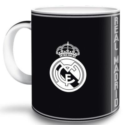 Real Madrid fekete porcelán bögre