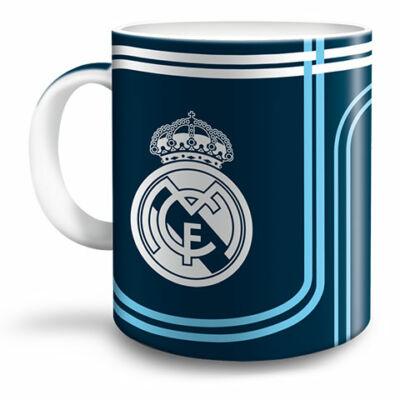 Real Madrid kék porcelán bögre 300ml