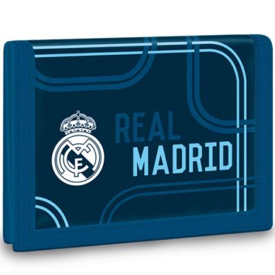 Real Madrid kék színű tépőzáras pénztárca