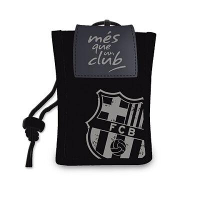 FC Barcelona nyakbaakasztható pénztárca fekete színben