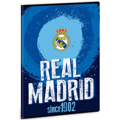 Real Madrid címeres vonalas füzet kék A/4