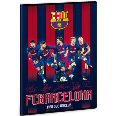 Barcelona vonalas füzet A4 – csapat