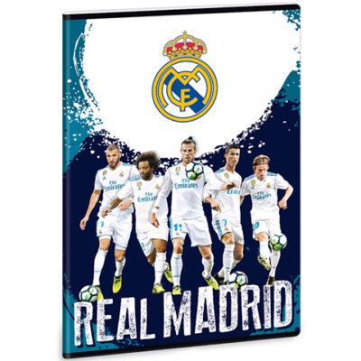 Real Madrid játékosok vonalas füzet kék A/4