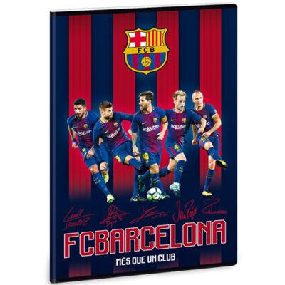 Barcelona négyzethálós füzet A/4 – csapat
