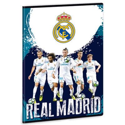 Real Madrid játékosok négyzethálós füzet A/4 21–32
