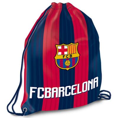 FC Barcelona sávos-címeres tornazsák, sportzsák 32×42 cm