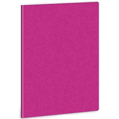 Pink glitteres A/4 extra kapcsos sima füzet