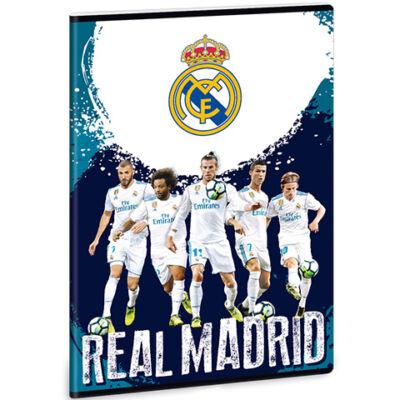 Real Madrid játékosok sima füzet A/4