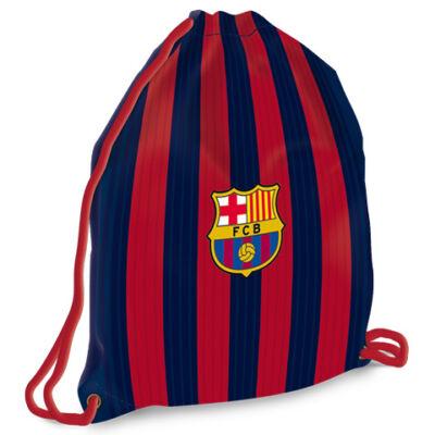 FC Barcelona sávos-címeres tinédzser tornazsák, sportzsák 37,5×46 cm