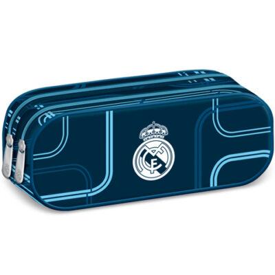 Real Madrid kék színű dupla cipzáras tolltartó