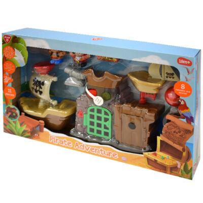 Playgo: Kalózok kincse 11 darabos játékfigura készlet hanggal