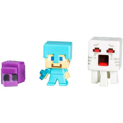 Minecraft: Kőszikla sorozat - Steve?, Endermite, Ghast 3db-os figura szett - Mattel
