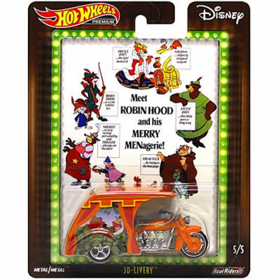 Hot Wheels Disney Premium: 3D-Livery kisautó 1/64 – Mattel