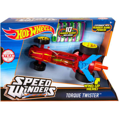 Hot Wheels: Speed Winders Torque Twister piros megajárgány - Mattel