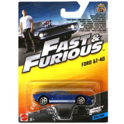 Halálos iramban: Ford GT-40 kisautó – Mattel