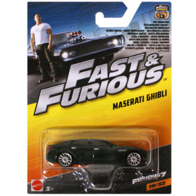 Halálos iramban: Maserati Ghibli kisautó – Mattel