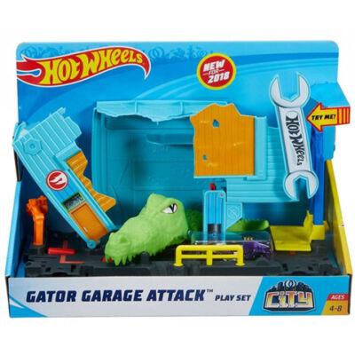 Hot Wheels - City: Gator Garázs támadás pálya - Mattel