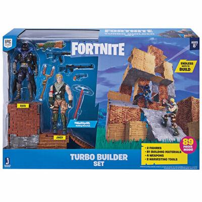 Fortnite: Turbó építő csomag 2 db karakter figurával, 81 db építőelemmel és kiegészítőkkel