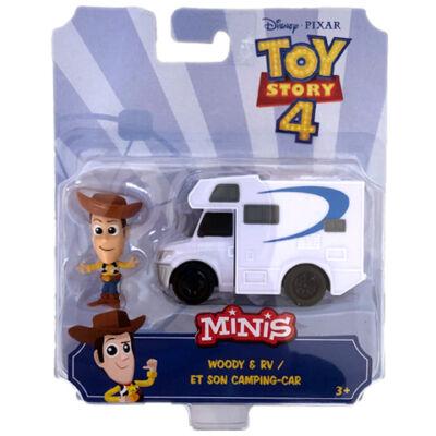 Toy Story 4: Woody karakter és kemping autója mini figuraszett – Mattel