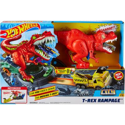Hot Wheels: T-Rex Rampage pálya készlet – Mattel