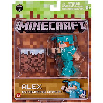 Minecraft: Alex gyémánt páncélban figuraszett