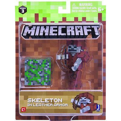 Minecraft: Csontváz bőr páncélban figuraszett