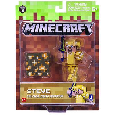Minecraft: Steve arany páncélban figuraszett