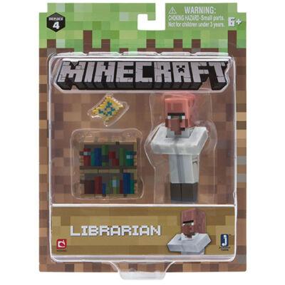 Minecraft: Falusi könyvtáros figuraszett