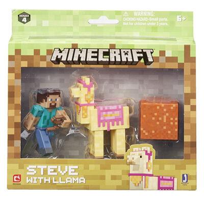 Minecraft: Steve Lámával figuraszett
