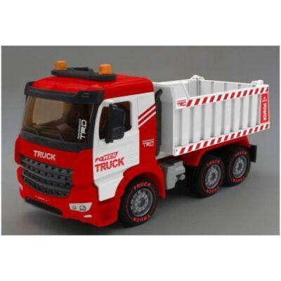 Power Truck Billencses teherautó fénnyel és hanggal 40 cm