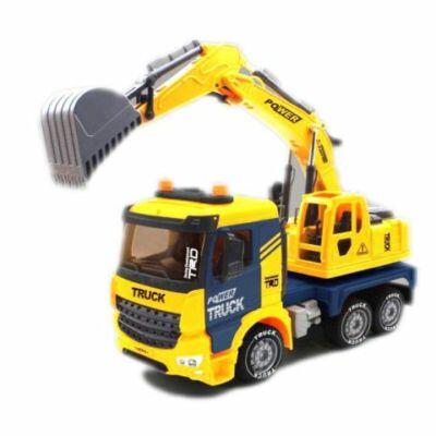 Power Truck markolódarus teherautó fénnyel és hanggal 40 cm