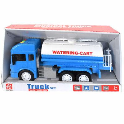Üzemanyag-szállító kamion fényekkel és hanggal