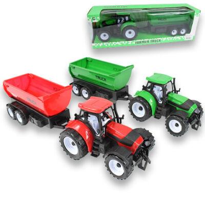 Farm traktor pótkocsival
