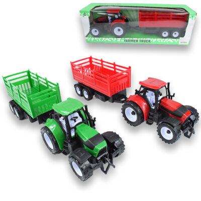 Farm traktor kéttengelyes tartálykocsival