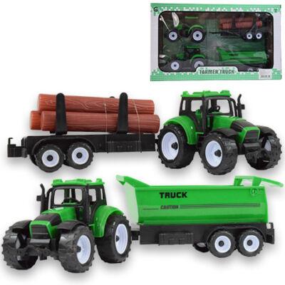 Farm traktor különböző pótkocsival 2 db-os szett