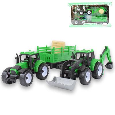 Farm traktor kiegészítővel 2 db-os szett