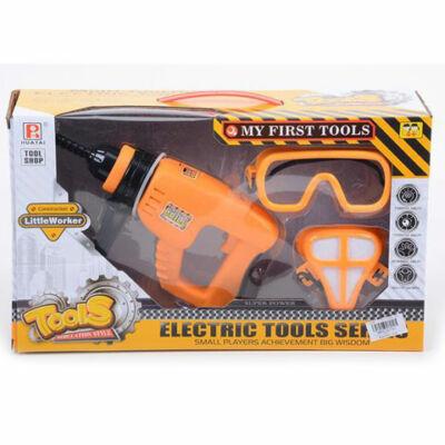 Szerszámos készlet elektromos fúróval és kiegészítőkkel