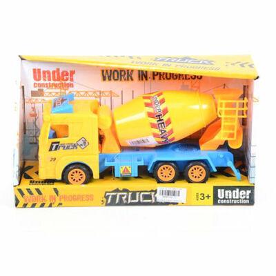 Mixer kamion sárga színben
