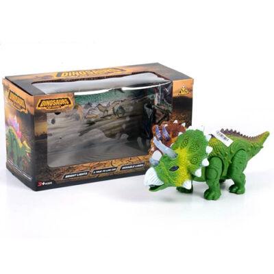 Elemes triceratops figura fénnyel 25 cm