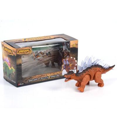 Sztegoszaurusz dinoszaurusz figura fény effektekkel