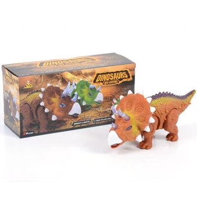Triceratopsz dinoszaurusz figura fény effektekkel