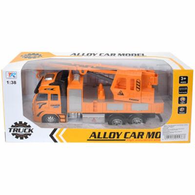 Darus teherautó fény effektekkel narancssárga színben 1:38-as méretarány