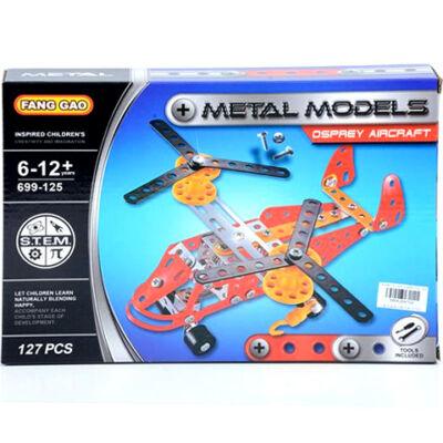 Helikopter fém építőjáték 127 db-os